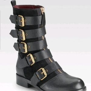 Marc by Marc Jacob Leather Moto Boots NWOT